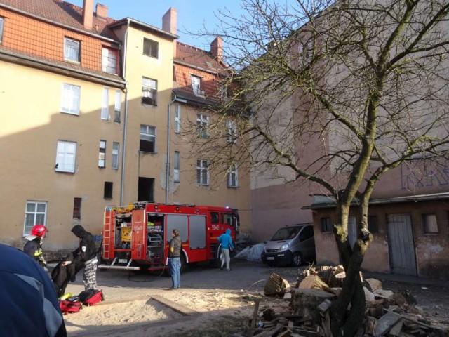 Piła: pożar na ul. Ojca Kolbe