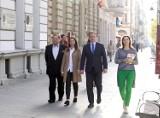 Znani politycy przyjechali do Łodzi poprzeć swoich kandydatów w wyborach samorządowych [ZDJĘCIA]