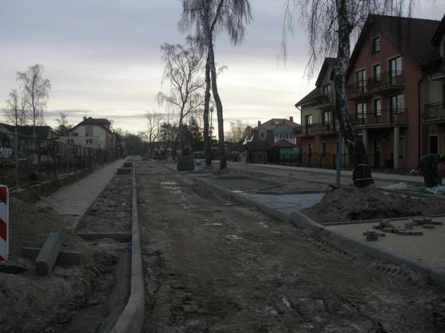 Przebudowa ulicy Brzozowej w Łebie