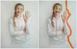 """Studentka UZ Liwia Litecka swoim obrazem powiedziała """"Cześć"""" i zaprosiła do przeróbki płótna. Efekt okazał się zaskakujący!"""