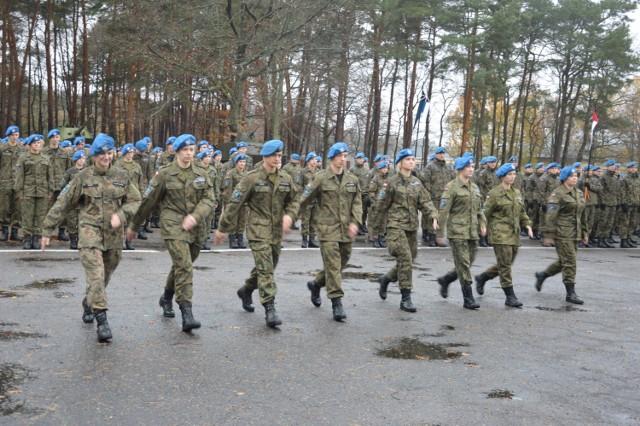 W niebieskich beretach służą m.in. żołnierze z Lęborka. Ich jednostka wchodzi w skład VII Batalionu Obrony Wybrzeża w Słupsku
