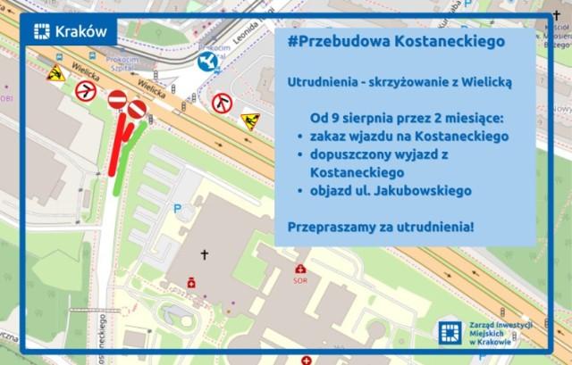 Ulica Kostaneckiego zostanie zamknięta na dwa miesiące