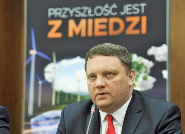 Prezes KGHM Marcin Chludziński