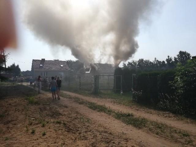 Do pożaru w Tuszynach doszło w sobotę, 24 lipca, około godz. 9.30.