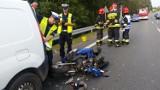 Wypadek motocyklisty na DK81 w Mikołowie [ZDJĘCIA]