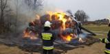 Nastolatkowie odpowiedzą za podpalanie kilkunastu bali siana. Są mieszkańcami gminy Dębowiec
