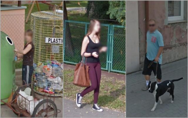 Mieszkańcy gminy Aleksandrów Kujawski w obiektywie Google Street View.