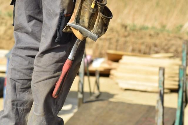 Ukraińcy często pracują na budowach i w handlu