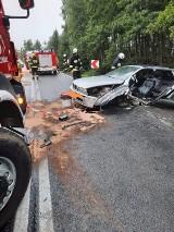 Wypadek dwóch pojazdów na DK25. Są ranne osoby