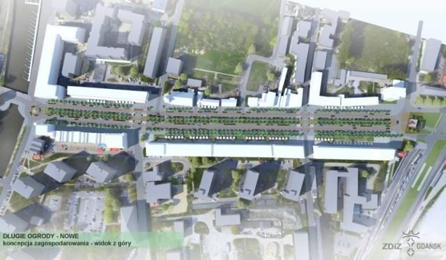 Wizualizacja nowych parkingów, które powstaną na ul. Długie Ogrody