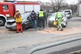 Wypadek na ulicy Piłsudskiego w Legnicy ZDJĘCIA