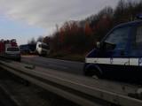 Tir zablokował wjazd do Wałbrzycha