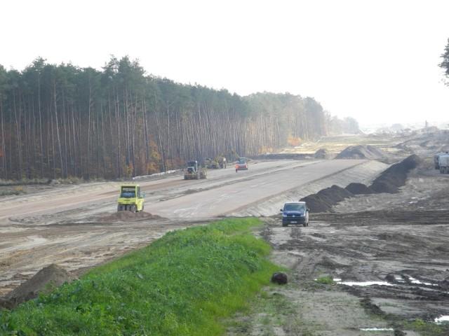 Fragment budowy II odcinka S14 – Lućmierz