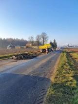Powiat wągrowiecki:Trwa remont dwóch dróg. Są utrudnienia