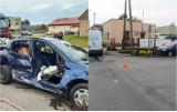 Nie żyje pasażerka peugeota. Śmiertelny wypadek na ulicy Włocławskiej w Bądkowie [zdjęcia]