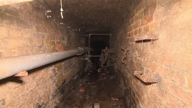 Katakumby pod szpitalem w Obrzycach. Ta jest pod kościołem