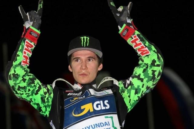 Patryk Dudek, żużlowiec Falubazu Zielona Góra, w sezonach 2017-20 ścigał się w cyklu Grand Prix.