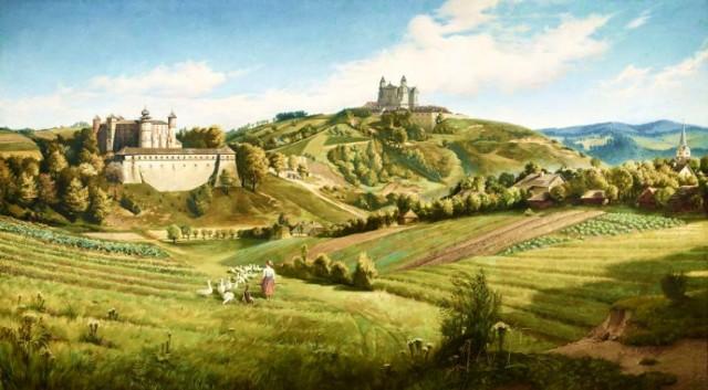 Tomasz Łosik (1848-1896), Wiśnicz, olej na płótnie, 141 x 252 cm, 1892 r. Ze zbiorów Muzeum im. Stanisława Fischera w Bochni