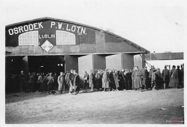 Wrzesień 1939 , Lotnisko Lubelskiego Klubu Lotniczego (LKL) w Bronowicach po zajęciu przez wojska niemieckie.