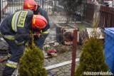 Pożar w Grudziądzu. Spłonęło piętro domku jednorodzinnego [zdjęcia, wideo]
