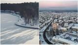 Województwo lubelskie przykryte białym puchem. Zobacz najpiękniejsze zdjęcia zaśnieżonego regionu z lotu ptaka!