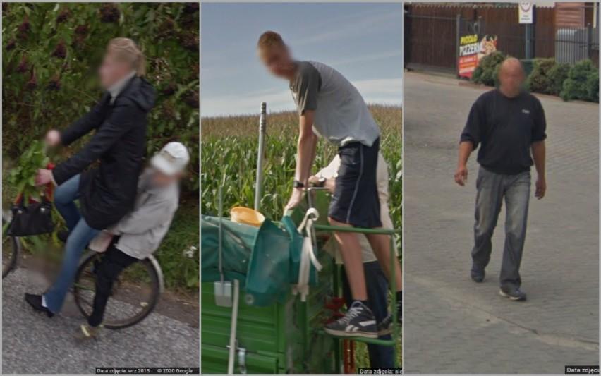 Mieszkańcy gminy Koneck w obiektywie Google Street View