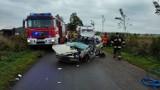 Wypadek w Połchowie: poważne zderzenie dostawczaka z osobówką. Lądował LPR   ZDJĘCIA, NADMORSKA KRONIKA POLICYJNA