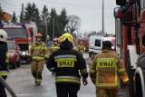 Pożar zakładu zniczy w Starogardzie Gdańskim ZDJĘCIA