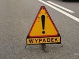 Wypadek na autostradzie A1 w Żorach. Opel vectra uderzył w barierki