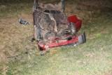 Groźny wypadek na autostradzie A4 w Rzezawie. Dachował samochód osobowy. Nastolatka trafiła do szpitala [ZDJĘCIA]