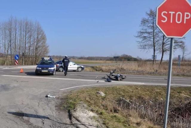 Pijany motorowerzysta spowodował wypadek w Księżpolu