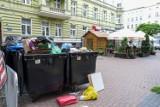 Śmietniki wsród restauracyjnych ogródków. To efekt remontu w śródmieściu w Szczecinie. Jak długo to potrwa?