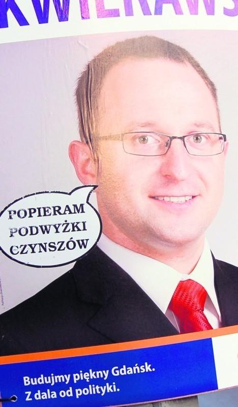 Plakat radnego Skwierawskiego