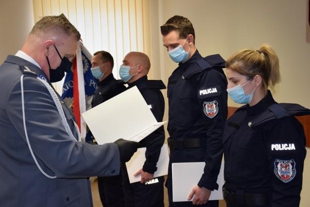 Ślubowanie nowych policjantów ze Szczecinka