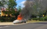 Na drodze w Grochowcach koło Przemyśla zapalił się ford focus [ZDJĘCIA]