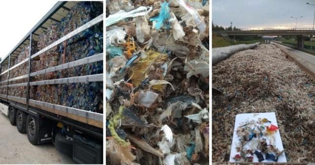 Jedno z zatrzymań nielegalnego transportu odpadów. W tym roku w trójmiejskich portach KAS interweniowała w podobnych przypadkach 13 razy