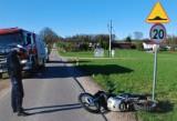 Wypadek drogowy w Rzepnicy. Kierowca motocykla nie miał uprawnień. Bytowska kronika policyjna