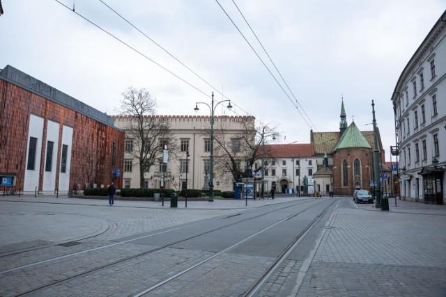 Puste ulice Krakowa
