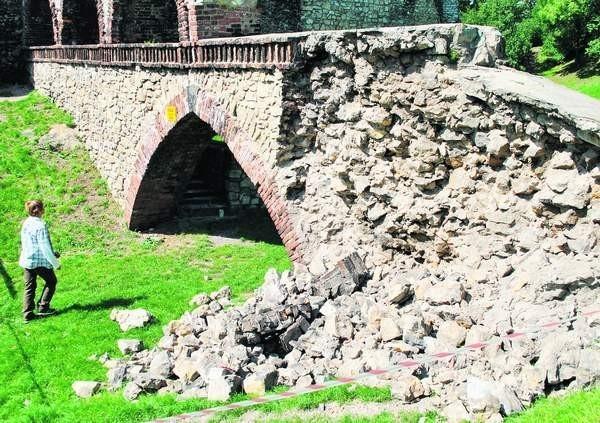 Teren od wschodniej strony zamku został ogrodzony