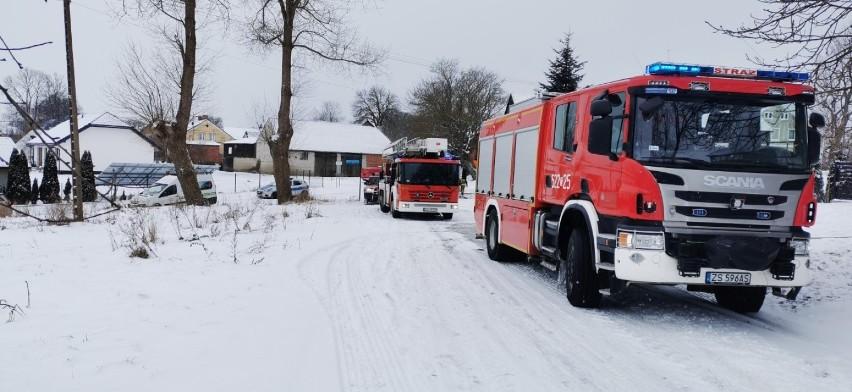 Pożar budynku gospodarskiego w Cisowie