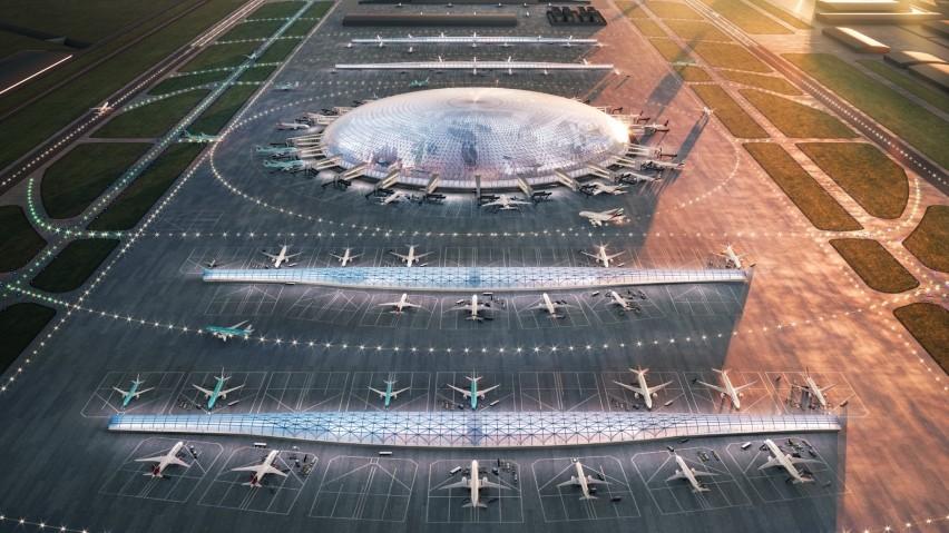Jedna z koncepcji Centralnego Portu Komunikacyjnego....