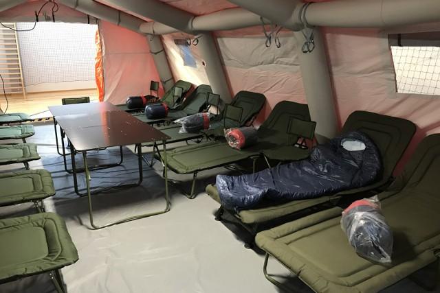 Nowy namiot przechlewskich ochotników