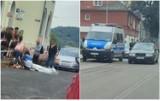 Potrącenie młodego mężczyzny na ulicy Ogniowej we Włocławku [zdjęcia]