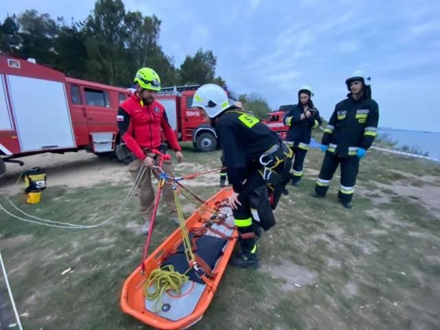 Kosakowo: ćwiczenia ratownicze z Morską Bazą Szkoleniową Mechelinki