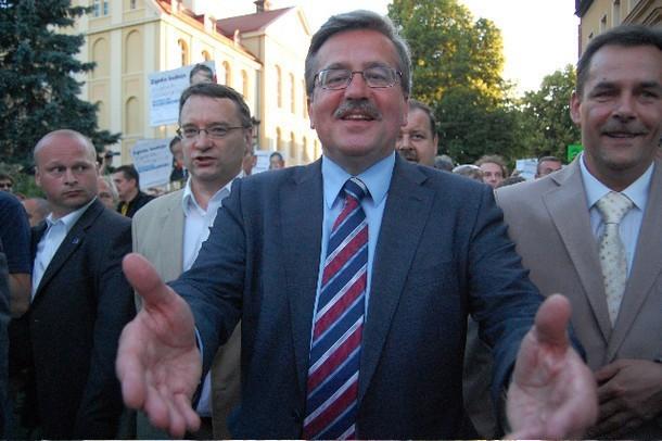 Wizyta Bronisława Komorowskiego w Chojnicach, wówczas jeszcze kandydata na prezydenta
