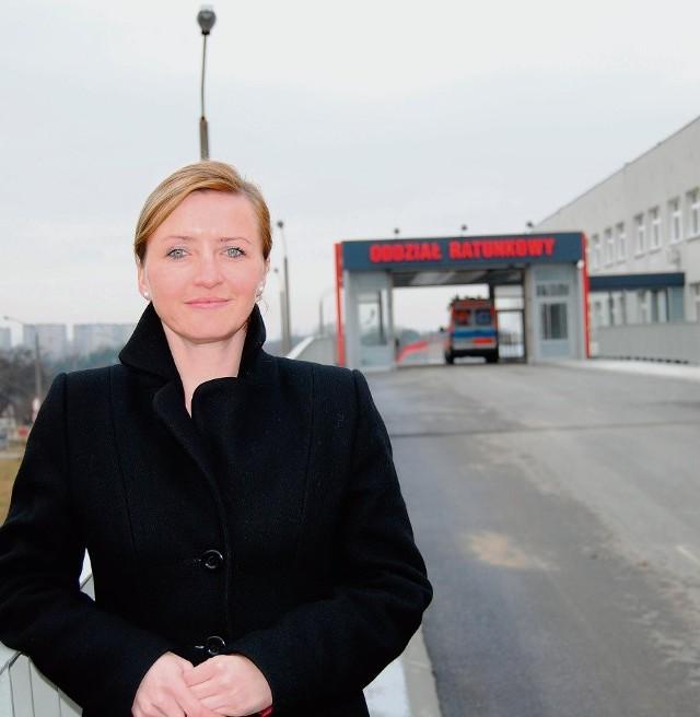 Klaudia Remsak z Libiąża cieszy się, że chrzanowski szpital zainwestował w estakadę