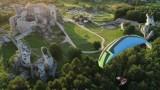 Film promujący Zamek Ogrodzieniecki w Podzamczu robi furorę w sieci. Zobacz, co widział paralotniarz