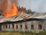 Pożar budynku inwentarskiego w gminie Kołczygłowy. Wszystkie zwierzęta ewakuowane
