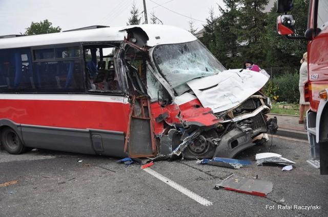 Wypadek w Łapczycy.