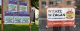Czy to koniec wojny plakatowej w Żaganiu? Interweniował komisarz wyborczy!